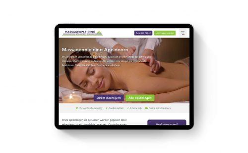 Nieuwe website Massageopleiding Apeldoorn